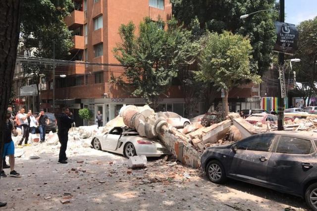 墨西哥发生7.1级地震 首都多处房屋倒塌