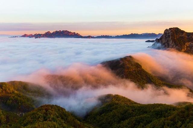 承德仙台山 波起峰涌的壮观云海
