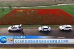 120米巨型国旗党旗花田亮相石家庄滹沱河畔