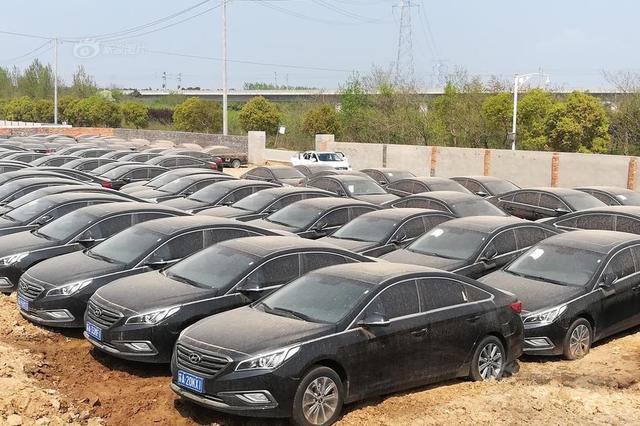 南京公墓旁现两百多新车落满灰尘