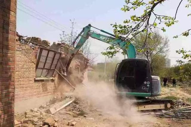 沧州这个地方75处违法建筑被拆除 面积达100余亩