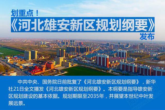 《河北雄安新区规划纲要》发布 重点内容总结