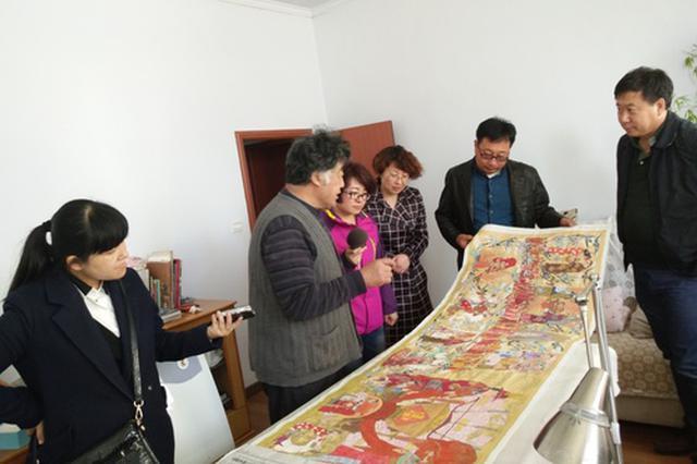 总长70米的《满乡风情》画卷在河北丰宁问世