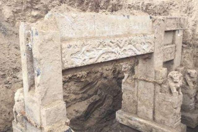 山东滨州工地挖出清朝古建筑 建于嘉庆十二年