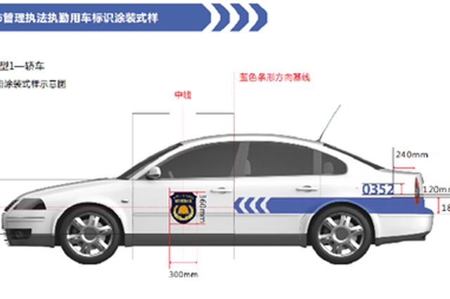 河北城市管理用车将统一涂装式样 示意图公开