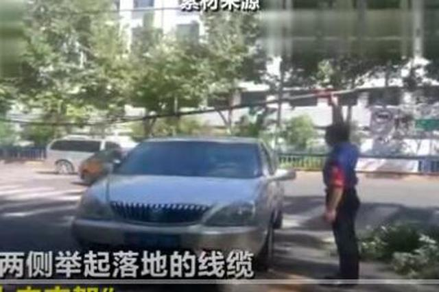 """石家庄最帅""""托举哥"""" 站马路4小时当""""人肉支架"""""""