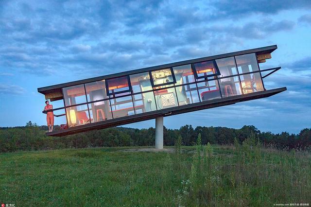 """建筑师推出创意""""跷跷板屋"""" 童趣十足"""