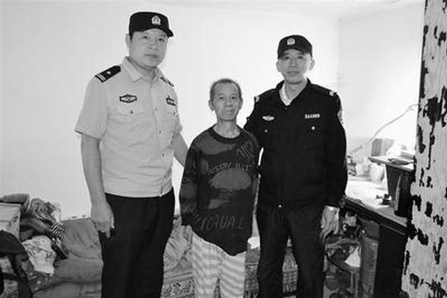 石家庄:民警山中苦寻 救出失踪31小时的老人