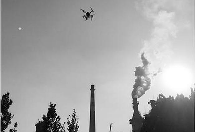 """唐山:无人机""""助战""""首轮大气环境执法检查"""