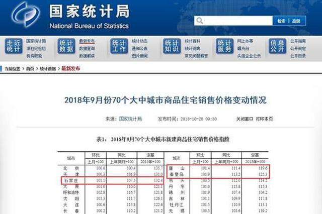 国家统计局官网相关信息截图