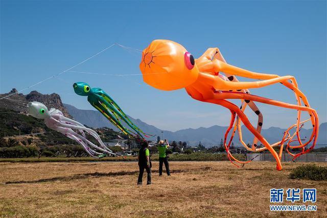南非开普敦国际风筝节落幕