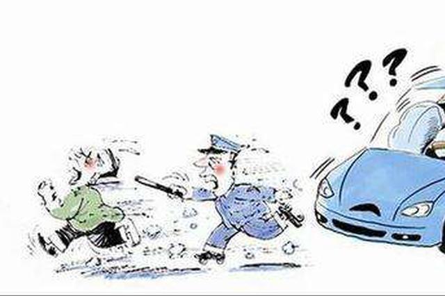 保定一酒驾司机车胎被破后仍疯狂逃窜最终被控制