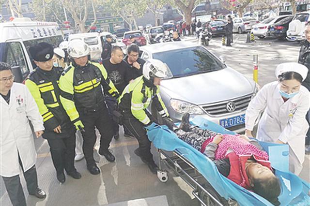 """正定交警为病人开通救治生命的""""绿色通道"""""""