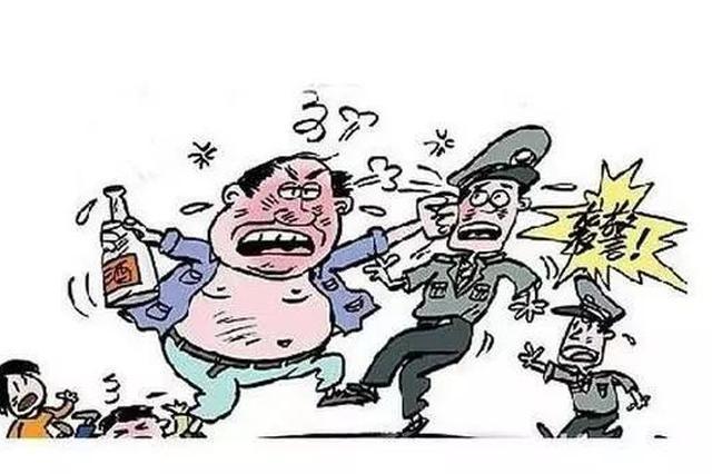 邯郸市一男子酒后滋事 抗法辱骂殴打民警被捕