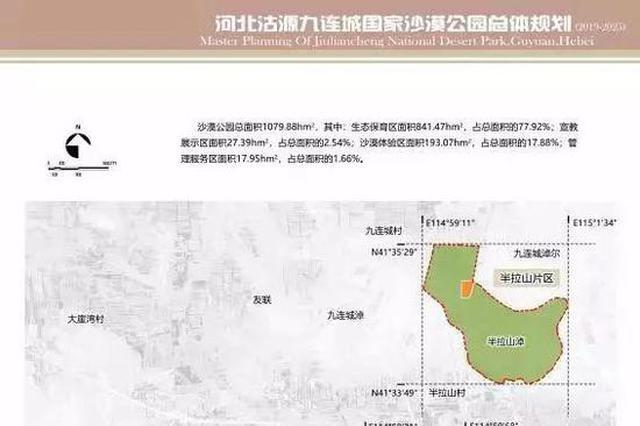 张家口将建设国家沙漠公园 总体规划图曝光
