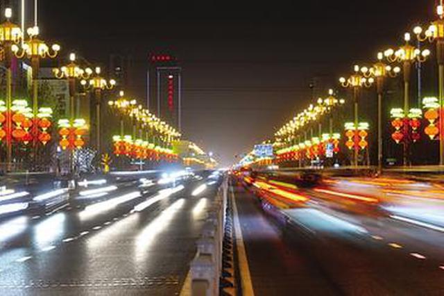 石家庄:3万个红灯笼15万串彩灯打造不夜城(图)
