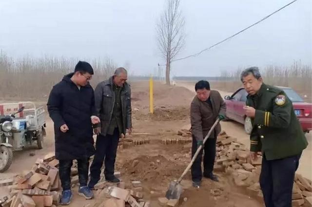 保定蠡县三位老人义务修村路 引网友称赞