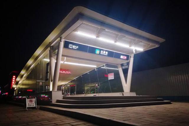 石家庄地铁1号线二期工程首列电客车顺利到场