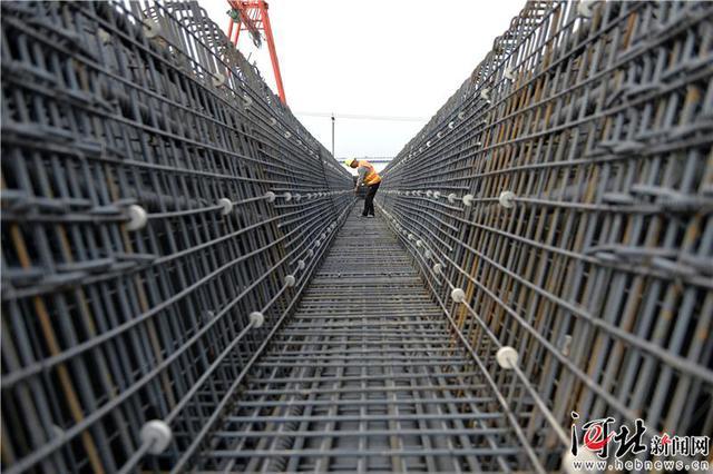 北京新机场北线高速公路廊坊段施工正酣(组图)