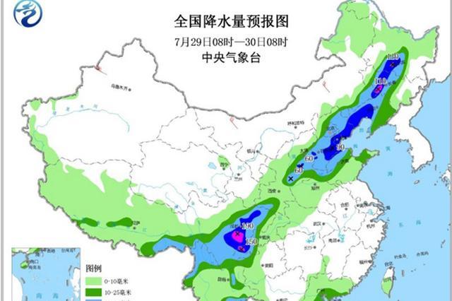 北方10省份有大雨或暴雨 南方高溫持續夜溫近30℃