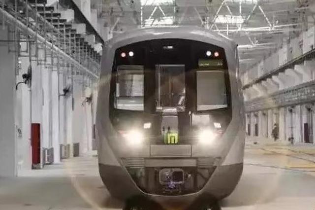 石家庄地铁石家庄造 地铁2号线首列电客车开始调试