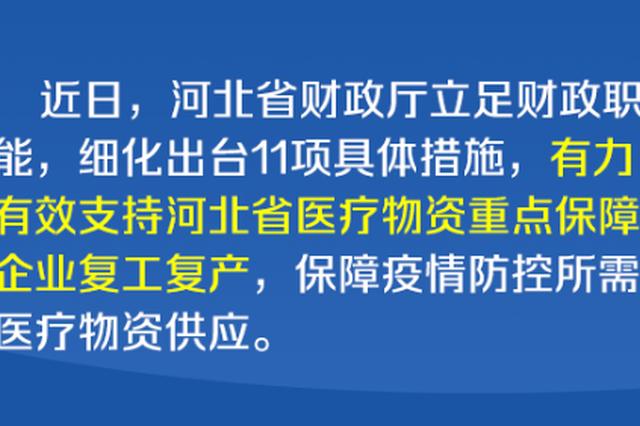 【图解】力撑医疗物资重点保障企业复工复产 河北出台11项措施
