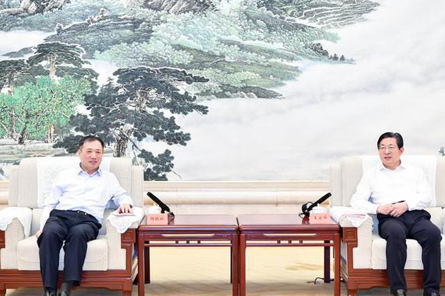 王东峰与上海交通大学党委书记杨振斌一行举行工作座谈