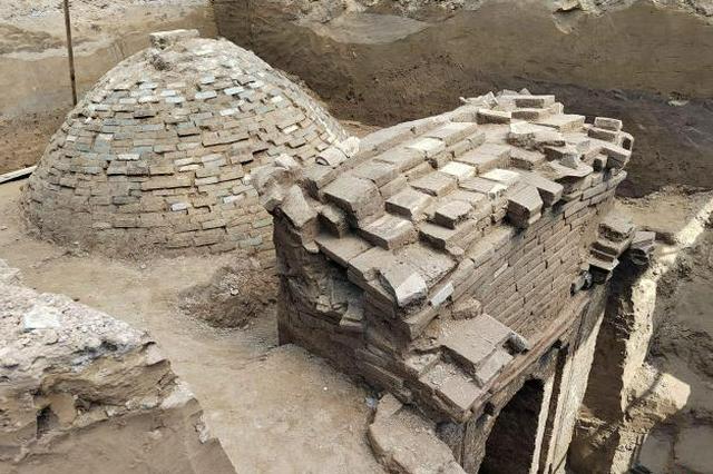 河北固安一工地发现辽代墓葬 内存壁画