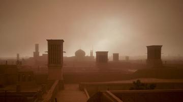 实拍伊朗沙尘暴来袭瞬间