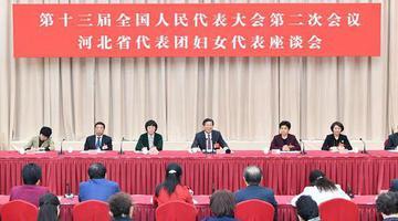 河北省代表团召开妇女代表座谈会