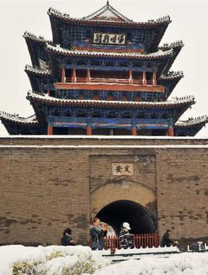 宣化:春雪润古城