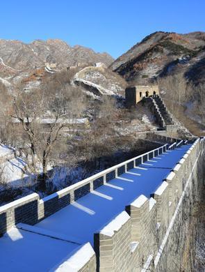 河北迁西:雪后长城