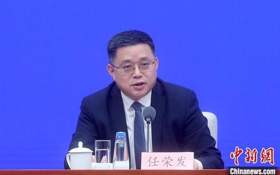 3月29日,中国国务院新闻办公室在北京举行新闻发布会,介绍《关于进一步深化税收征管改革的意见》有关情况。国家税务总局副局长任荣发出席发布会,并答记者问。 中新社记者 张宇 摄