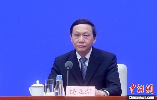 3月29日,中国国务院新闻办公室在北京举行新闻发布会,介绍《关于进一步深化税收征管改革的意见》有关情况。国家税务总局总审计师饶立新出席发布会,并答记者问。 中新社记者 张宇 摄