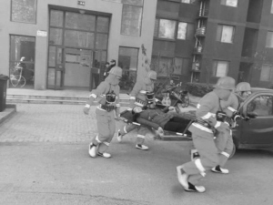 裕华区众美城社区开展消防演练