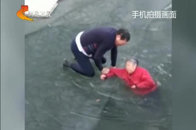 保定 沧州:市民交警水中救人