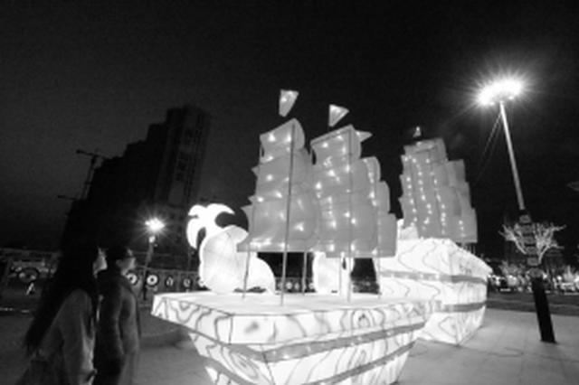 """""""箱包之都""""白沟首办新春文化节 挂满万盏红灯笼"""