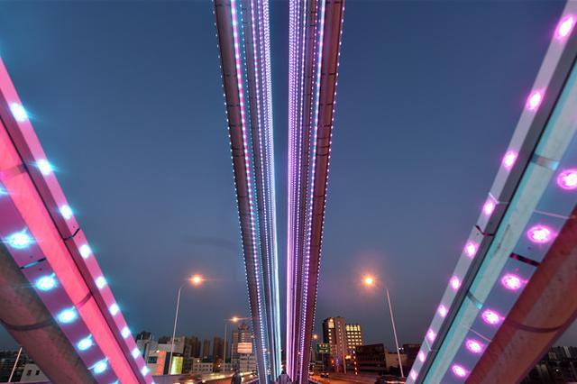 石家庄春节亮灯活动正式启动 45万盏灯点亮夜空