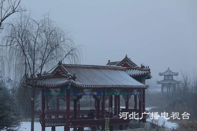保定易县普降春节后第一场瑞雪