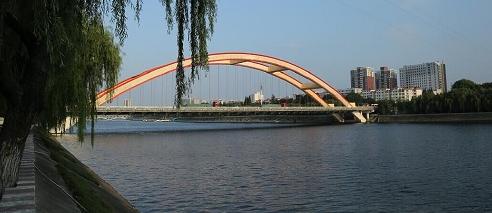 信阳有了新彩虹 107国道信阳浉河大桥今日正式通车