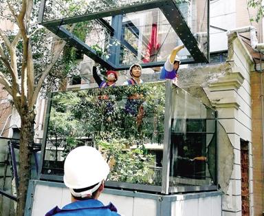 郑州首部装配式电梯开始安装