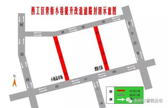 河南洛阳:健康南路和永红巷两