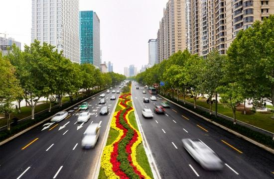 郑州:提升改造后金水路美爆了(图)