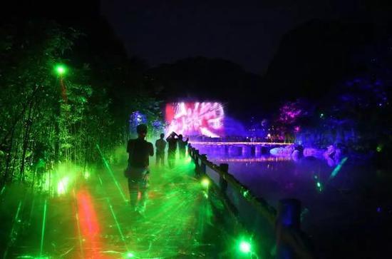 焦作、郑州、新乡人速看!云台山网红夜游景点