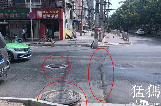 郑州这段路井盖凸起太多 市民: