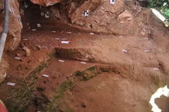 龙泉洞遗址发掘区。(洛阳市文物考古研究院供?#36857;?><span class=