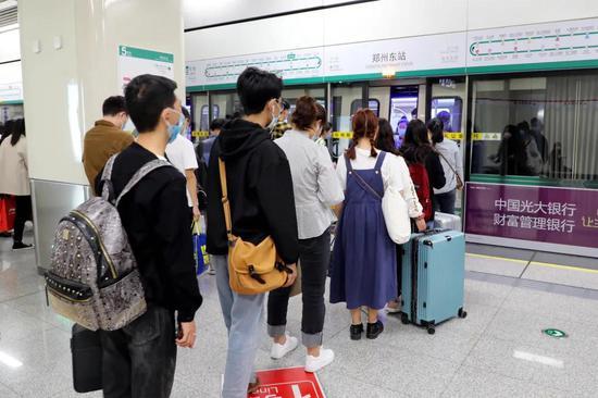 压缩间隔!郑州地铁10月23日起运力进一步提升