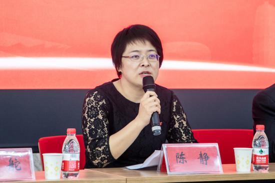 郑州财经学院副校长陈静致辞