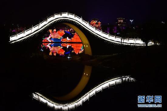 郑州:灯光璀璨园博园