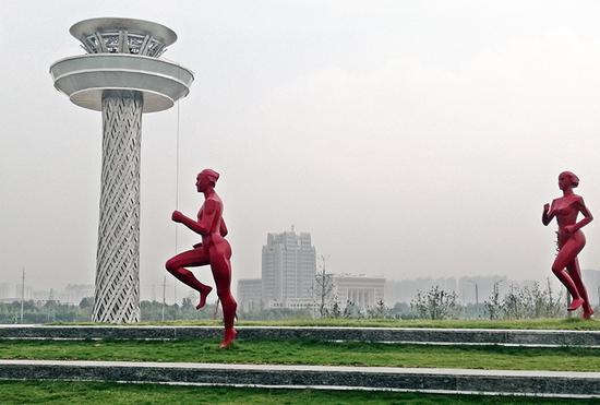 郑州:全国民族运动会开闭幕式开始实地合排